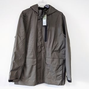 NWT Goodfellow Co Men's Army Green Rain Jacket